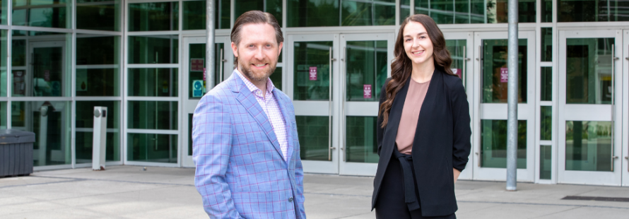 McMaster expert and lead author of this study Matt Miller and graduate student Hannah Stacey.